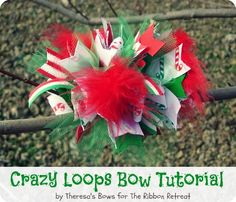 Crazy Loops Bow Tutorial - Use up ribbon scraps to create an over the top bow you will love! {The Ribbon Retreat Blog}