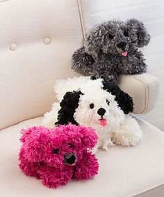Irresistible Crochet Puppy - free pattern by Michele Wilcox for Red Heart.