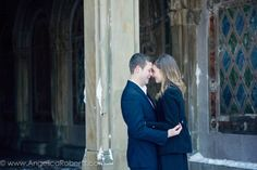 #Central Park #engagement #photography #New York City #kiss #couple #winter #snow Photo by Angelica Roberts Photography copyright www.AngelicaRoberts.com