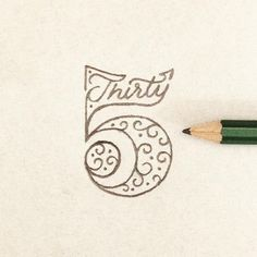 "typeandlettering: "" 35 by Toferflowers """