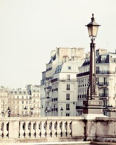 *** VACATION NOTICE: My next shipping date is January 8 ***     The soft white and gray tones of Parisian architecture bathed in beautiful