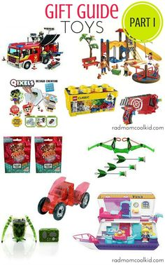 This gift guide contains tons of toys we have played with and reviewed this year! Check out this great gift guide for kids ages 3 and up! www.radmomcoolkid.com