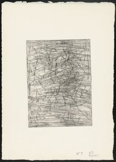 """Jean Dubuffet. Unused plate for Couinque. 1962. Celluloid engraving. composition: 6 15/16 x 5 1/16"""" (17.6 x 12.9 cm); sheet: 12 5/8 x 9"""" (32 x 22.8 cm). Gift of the artist. 1353.1968.5. © 2016 Artists Rights Society (ARS), New York / ADAGP, Paris. Drawings and Prints"""