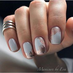 There are three kinds of fake nails which all come from the family of plastics. Acrylic nails are a liquid and powder mix. They are mixed in front of you and then they are brushed onto your nails and shaped. These nails are air dried. Nail Manicure, My Nails, Nail Polish, Manicures, Best Nail Art Designs, Beautiful Nail Designs, Foil Nail Designs, Beautiful Beautiful, Beautiful Nail Art