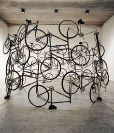 Ai Weiwei, Forever, Bicycles, 2003, 42 bicycles, h. 275cm x 450cm, © FAKE Studio.