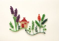 Paper quilling Little house от Hyvoky на Etsy