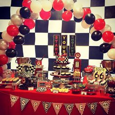 cobalt events kids party cars candy dessert table