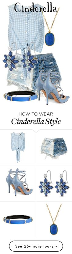 """""""Cinderella"""" by blueangel16-001 on Polyvore featuring Levi's, Valentino, Topshop, Alexis Bittar and NAKAMOL"""