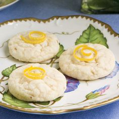 Lemon-Rose Bonbon Cookies - These cookies feature the flavors of rose water, fresh lemon juice, and almonds.