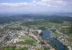 Duga Resa, panoramic view of the town center on the Mrežnica river, Croatia Foreign Language Courses, Central Europe, Bosnia, Business Travel, City Photo, Dolores Park, Tours, Outdoor, Relax