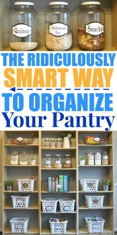 """The pantry is crucial to keep organized on a regular basis, food illnesses are no joke! There is also the issue of food waste, buying unnecessary items because you already had it in your pantry but forgot about it or it's pushed to the back and expired. According to World Food Day """"In the USA, 30-40% of the food supply is wasted, equaling more than 20 pounds of food per person per month."""" Here's How to Or..."""