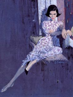 "vintagegal: ""Cover art by Robert McGinnis for Some Like it Cool by Robert Kyle…"