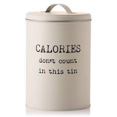 Calories Don't Count Biscuit Tin #cookies