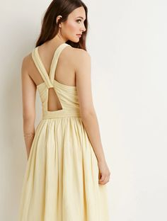 An airy pastel yellow dress.