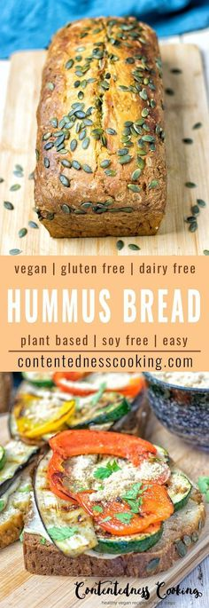 Hummus Homemade Bread made with just 5 ingredients and 2 easy steps, vegan and gluten free. Simple and tasty, this will be the best fresh bread you've ever made.