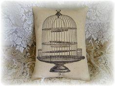 Vintage Chic Old Wire Birdcage Canvas by kristyschicboutique, $9.99