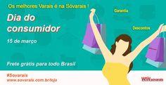 Os melhores Varais é Sóvarais  www.sovarais.com.br/loja #15março #diadoconsumidor #promoção #diadescontos #ofertas