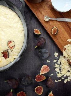 fig and almond skillet cake // joy the baker