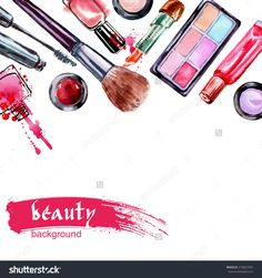 stock-vector-watercolor-cosmetics-pattern-with-make-up-artist-objects-lipstick-nail-perfumes-eye-shadows-279057455.jpg (1500×1600)