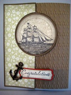 Open Sea Flip Card by Grandma Overboard - Cards and Paper Crafts at Splitcoaststampers