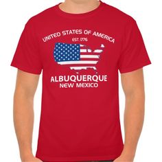 Show some USA pride with our patriotic, fun and stylish  USA EST. 1776 ALBUQUERQUE New Mexico tee.    Great for the 4th of July, your city celebration or anytime of the year so don't miss out grab yours today. www.citystyletees.com