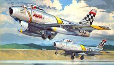 F-86E Sabre 'Nina II', Col. John Mitchell, Korean War (Don Greer)