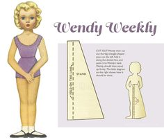 Wendy Weekly: 1950s Paper Doll set-from Australian Women's Weekly, 1958