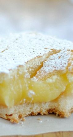 Ina Garten's Lemon Bars Recipe ~ buttery crust, creamy-gooey filling, and crispy sugar top... PERFECT!