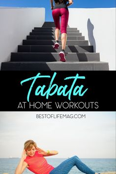 These at home Tabata workouts are perfect as beginner workouts for those who want a quality workout when crunched for time. Home Fitness Ideas | Tips for Home Workouts | At Home Workouts for Men | At Home Workouts for Women | Tips for Tabata Workouts #tabata #workout via @amybarseghian