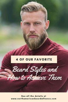 4 of Our Favorite Beard Styles and How to Achieve Them Beard Trimming Guide, Beard Trimming Styles, Beard Styles For Men, Grow A Thicker Beard, Thick Beard, Trim Beard Neckline, Crazy Beard, Mens Hairstyles Fade, Long Beards