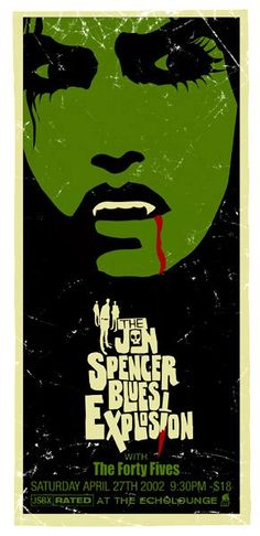 Jon Spencer Blues Explosion gig poster