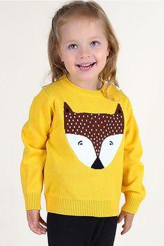 #sweater #fox #knitwear #yellow
