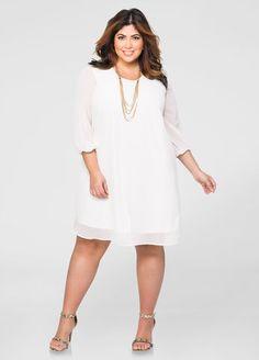 New dress plus size white long sleeve 34 Ideas Dresses For Teens, Trendy Dresses, Plus Size Dresses, Plus Size Outfits, Nice Dresses, Casual Dresses, Short Dresses, Curvy Outfits, White Outfits