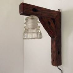 Lámpara De Colgar Artesanal Pantalla Aislador Antiguo.