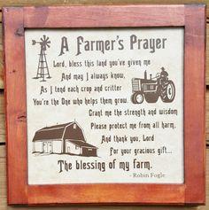 FARMER'S PRAYER (Framed) - American Farmer - Farming Family - Gift for Farmer…