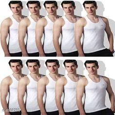 Innerwear Vests Standard Cotton Men's Vest Fabric: Cotton Sleeve Length: Sleeveless Pattern: Solid Multipack: 10 Sizes:  XS (Chest Size: 75 cm Length Size: Up To 26 in To 28 in)  S (Chest Size: 80 cm Length Size: Up To 26 in To 28 in)  M (Chest Size: 85 cm Length Size: Up To 26 in To 28 in)  L (Chest Size: 90 cm Length Size: Up To 26 in To 28 in)  XL (Chest Size: 95 cm Length Size: Up To 26 in To 28 in)  XXL (Chest Size: 100 cm Length Size: Up To 26 in To 28 in) Country of Origin: India Sizes Available: XS, S, M, L, XL, XXL   Catalog Rating: ★4.1 (10015)  Catalog Name: Sassy Men Vest CatalogID_1115541 C68-SC1217 Code: 736-6988733-3171