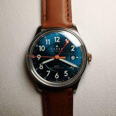 Oh man, the dial on the @fareruniversal Lander GMT... #wornandwound