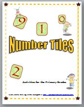 Number Tiles is a 23 page booklet containing 17 different math problem solving activities for the primary grades that range from simple counting, to even and odd numbers, to greater than or less than to solving addition and subtraction problems. Since the students do not write in the book, the pages can be copied and laminated so that they can be used from year to year. These activities may be placed at a center for math practice.