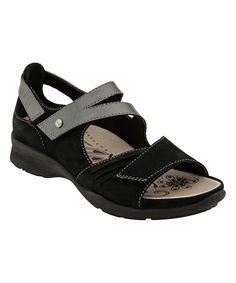 Black Color Block Nubuck Apex Sandal