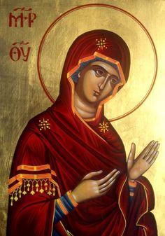 #motherofgod, #holymary, #holymarypraying, #bysantine, #iconography, #greekiconography, #evapolart, #handmade, #handpainted, #handcrafted