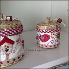 El Mundo de MariLoli: Cubre Cestitas II y III Pin Cushions, Pillows, Basket Liners, Handicraft, Needlework, Projects To Try, Quilts, Embroidery, Sewing