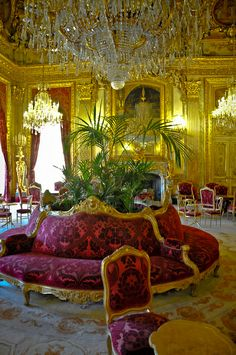 French Royal Palace Apartments at Louvre Museum Paris France |
