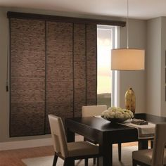 Just found the perfect window treatments!! - Blinds.com. – Woven Wood Sliding Panels #homedecor #blinds #vertical-blind-alternatives