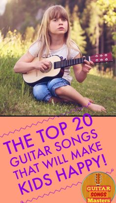 The Best Songs For Kids That You Can Play On The Guitar To Make Kids Happy! - If you ever find yourself in a situation where you are in front of some kids and looking for a cool song to play on the guitar to make 'em happy – here are your best bets: Guitar Lessons For Kids, Acoustic Guitar Lessons, Guitar Lessons For Beginners, Violin Lessons, Singing Lessons, Singing Tips, Guitar Tips, Guitar Songs, Music Lessons