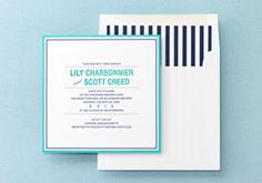 Aqua and Navy are the perfect combination for a nautical or beach wedding.