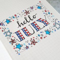 "120 Likes, 6 Comments - Kara (@oak.tree.journaling) on Instagram: ""Hello July. Hello Summer. Hello new month in my bullet journal."""