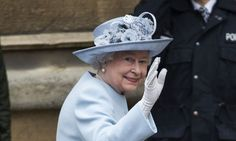 Royals on Easter parade: Queen is joined by royal family members for service at St George's Chapel in Windsor