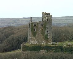 Ballinalacken Castle is a two-stage tower house most likely built in the 15th or early 16th century. It is between Lisdoonvarna and Farnore in county Clare, Ireland.