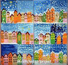 Winter art projects, winter crafts for kids, school art projects, classro. Winter Art Projects, Winter Crafts For Kids, School Art Projects, Art For Kids, Classe D'art, Kindergarten Art, Art Lessons Elementary, Art Classroom, Art Activities