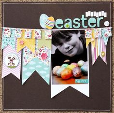 Scrapbook Inspiration - I just LOVE the little banners!